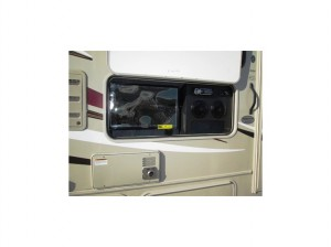 luxe rv rental tv outside