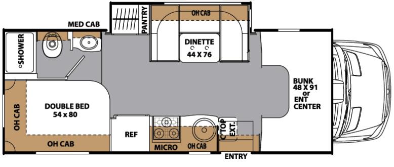 luxury rv floor plan