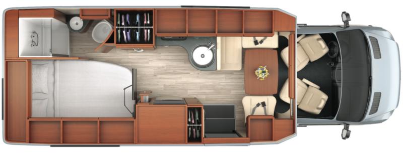 Leisure Serenity RV Floor Plan