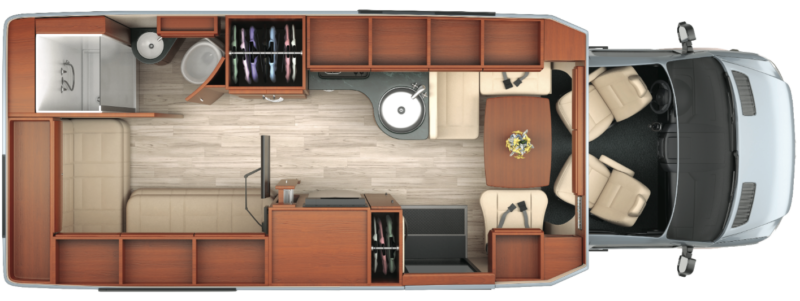 luxury rv floor plan