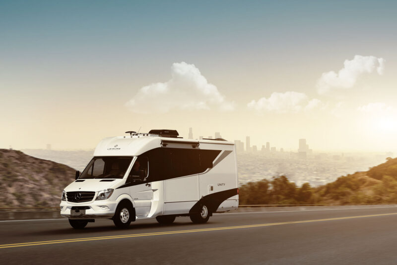 Rent unity rv from leisure van for Mercedes benz luxury rv