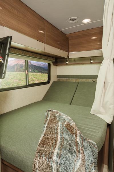 Mercedes RV corner bed adjustable