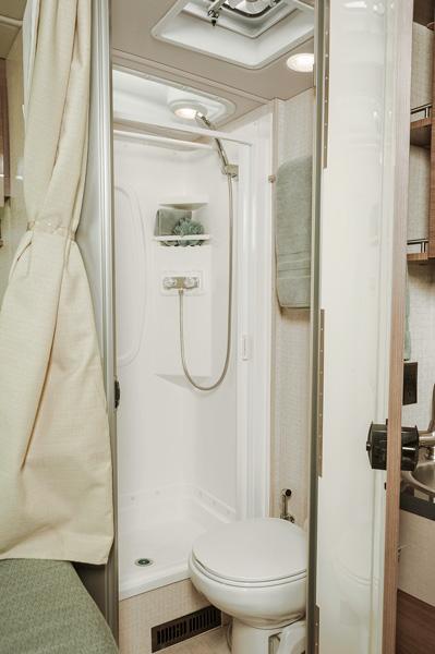 Mercedes RV shower