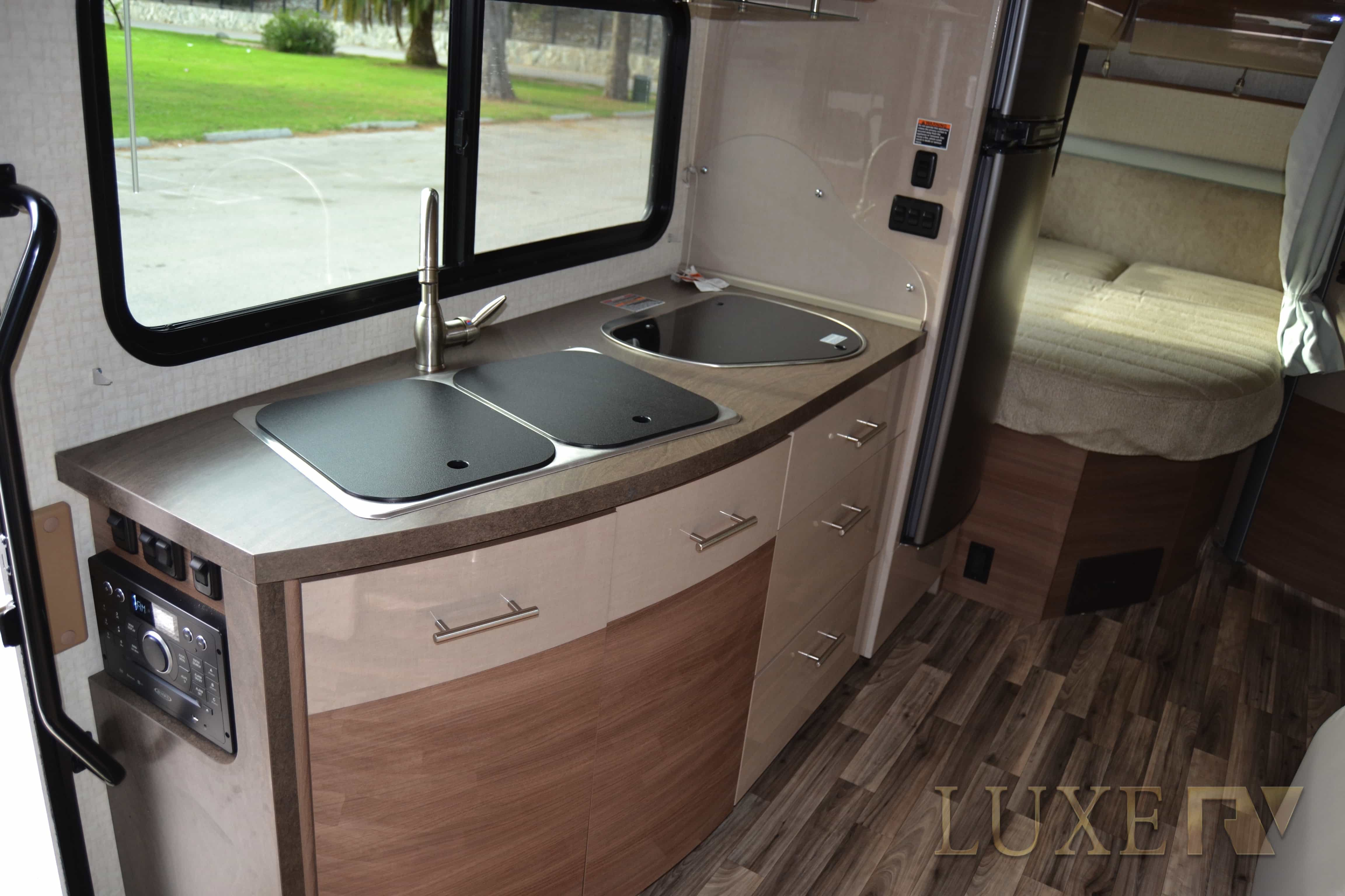RV Rental kitchen
