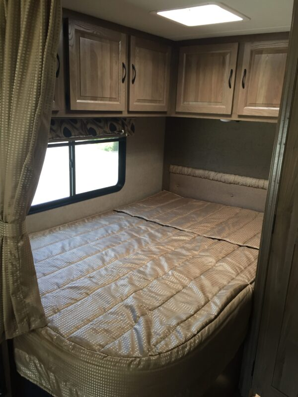 Corner Bed Mercedes RV - Luxe RV