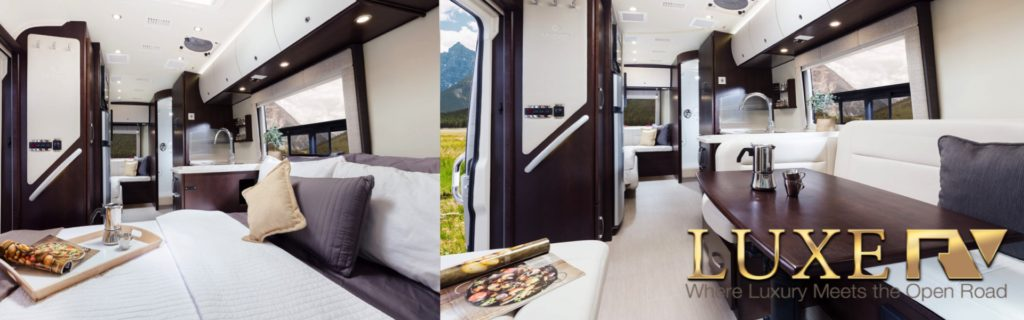 luxe rv rental in californian and nevada