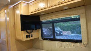 Ultra Luxe RV rental bedroom tv