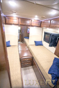 Up to a kind size bed in a c class RV