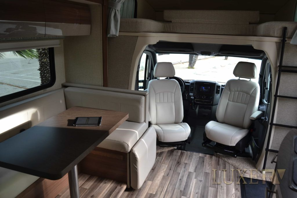 The inside of one of luxurious RVs