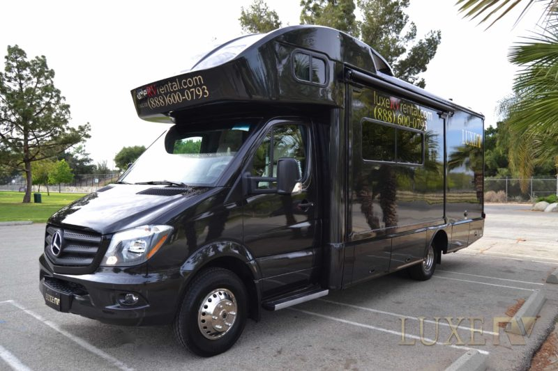 One of our sleek luxury RVs that you will visit California in